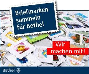 Briefmarken sammeln für Bethel. Die Ambulante Kinderkrankenpflege Sugint & Scherf macht mit.